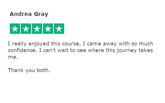 Trustpilot review - andrea gray
