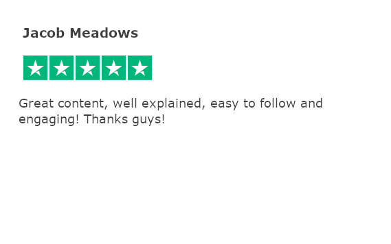 Trustpilot review - jacob meadows