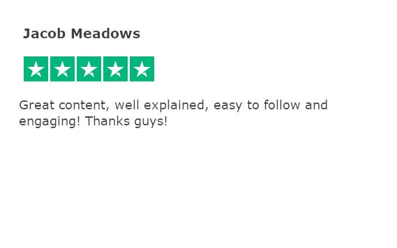 Trustpilot review - jacob meadows