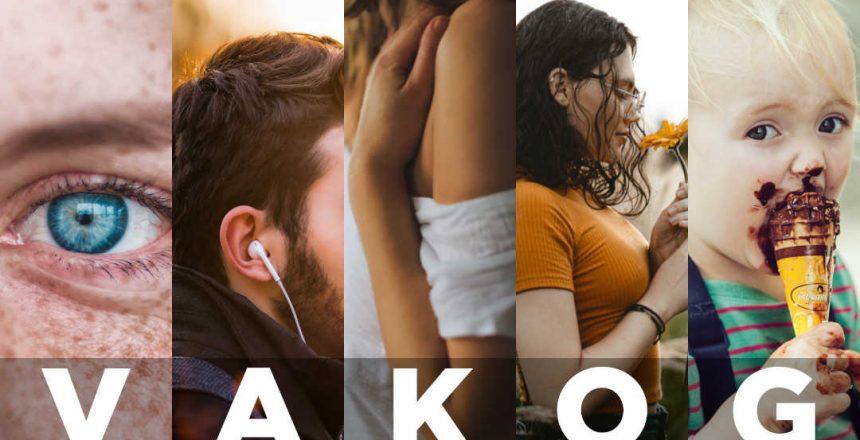 VAKOG word with images denoting all five sensory modalities